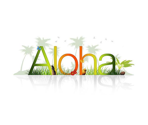Aloha - Hawaii Print by Aged Pixel