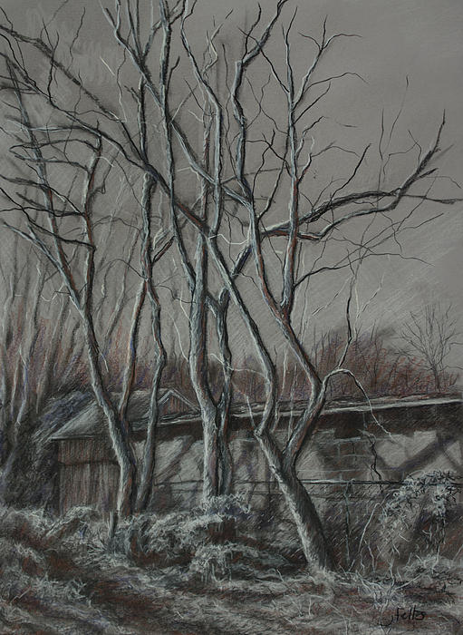 Along The Greenway 2 Print by Janet Felts
