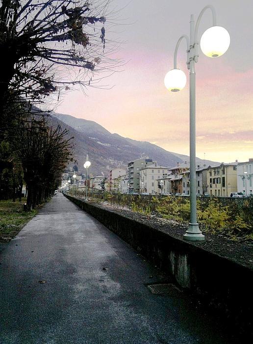Along The Stream Morning First Light Print by Giuseppe Epifani