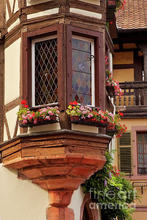 Alsace Window Print by Brian Jannsen