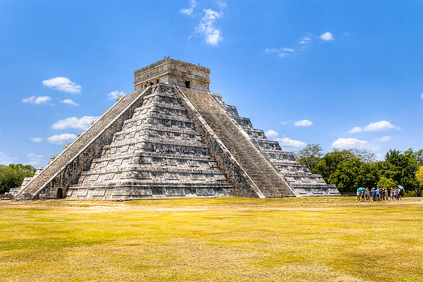 Amazing Mayan Pyramid At Chichen Itza Print by Mark Tisdale
