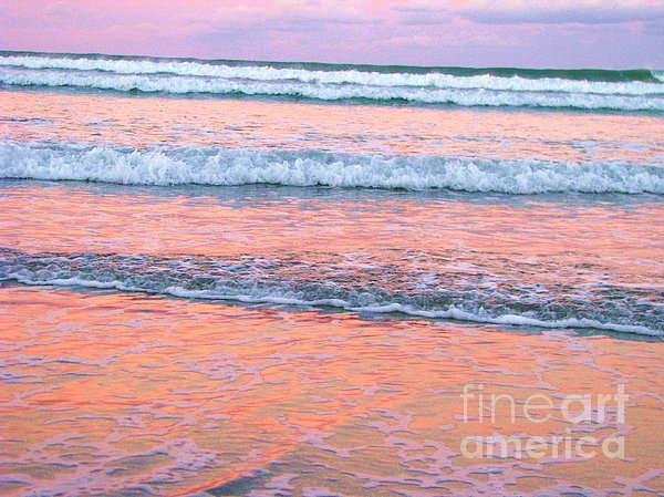 Amazing Pink Sunset Print by Michele Penner
