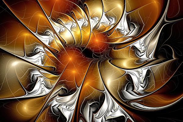 Amber Vortex Print by Anastasiya Malakhova