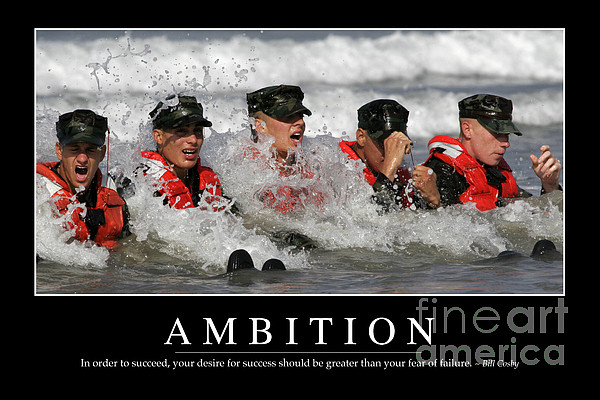 Ambition Inspirational Quote Print by Stocktrek Images