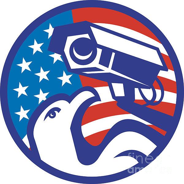 American Bald Eagle Security Camera Print by Aloysius Patrimonio