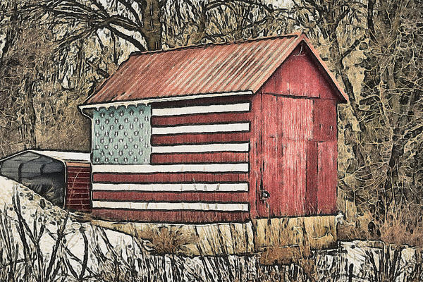 American Barn Print by Trish Tritz