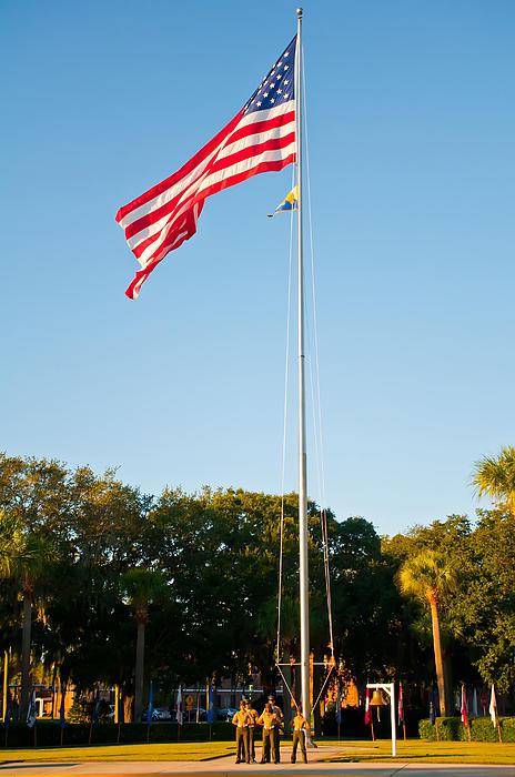 American Flag Print by Alexandr Grichenko