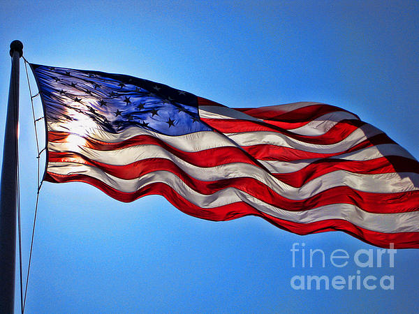 American Flag Ft Sumpter Print by Tommy Anderson