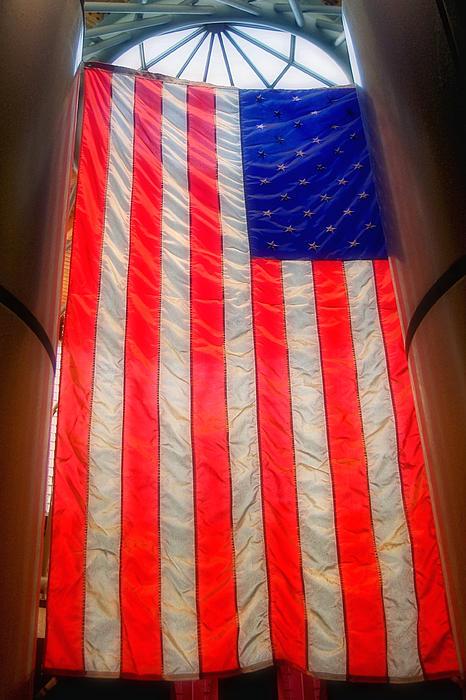 American Flag Print by Joann Vitali