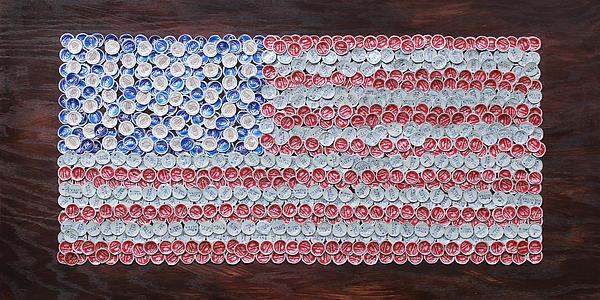 American Flag Print by Kay Galloway