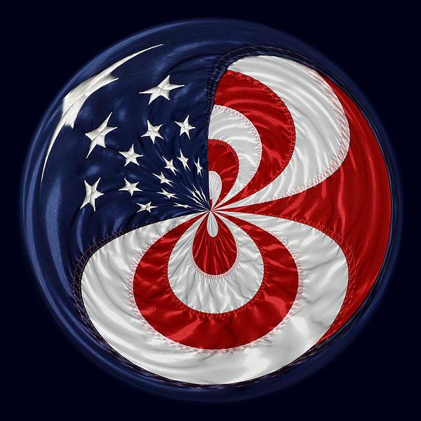 American Flag Orb Print by Paulette Thomas