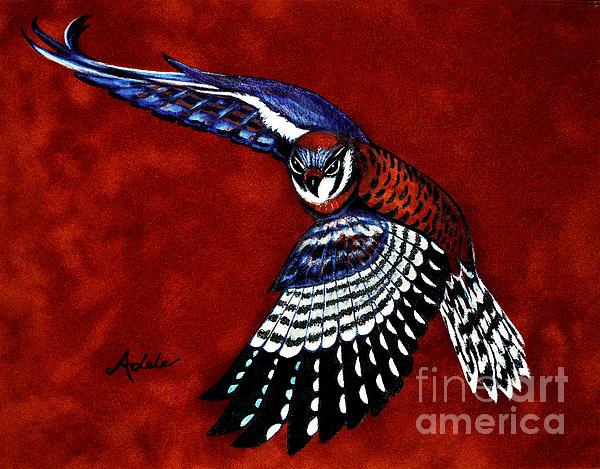 American Kestrel Print by Adele Moscaritolo