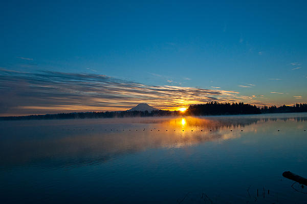 Roger Reeves  and Terrie Heslop - American Lake Sunrise