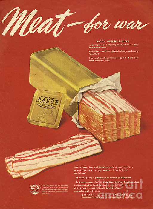 American Meat Institute 1950s Usa Bacon Print by The Advertising Archives
