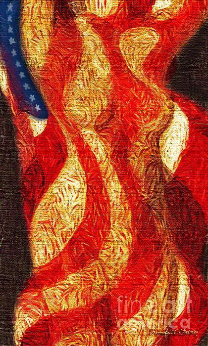 American Nude Print by Joseph J Stevens