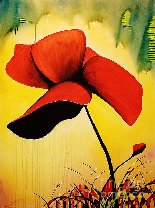 American Poppy Print by Kyle  Brock