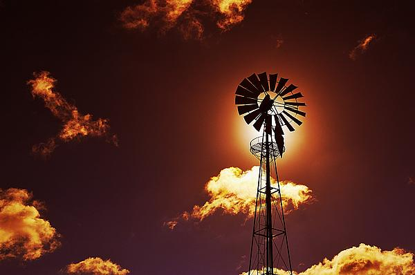 American Windmill Print by Marco Oliveira
