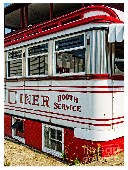 Americana Classic Dinner Booth Service Print by Edward Fielding