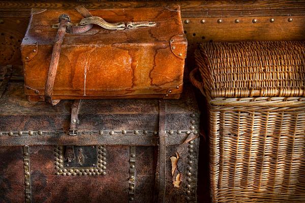 Americana - Emotional Baggage  Print by Mike Savad