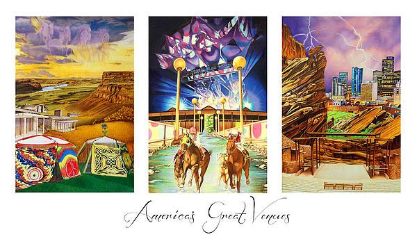 America's Great Venues Print by Joshua Morton