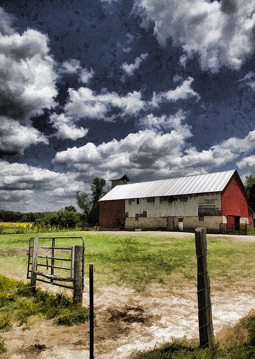 Kathy Clark - Amish Barn Digitally Painted