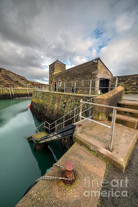 Amlwch Port Lighthouse Print by Adrian Evans