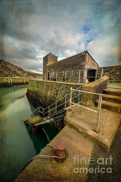 Amlwch Port Lighthouse V2 Print by Adrian Evans