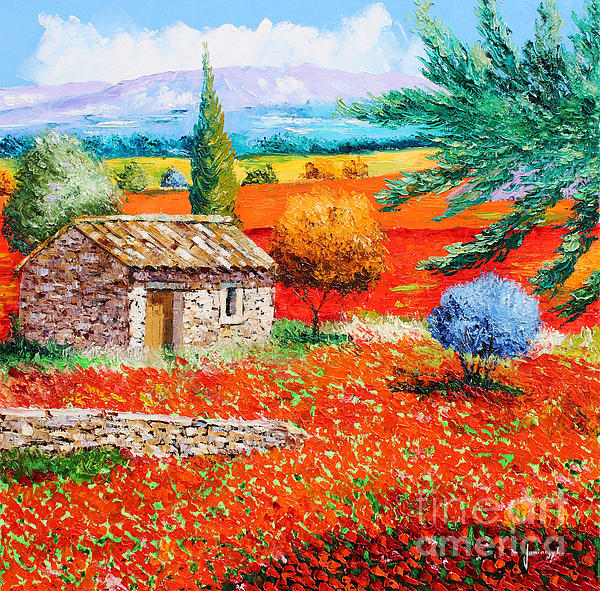 Among The Poppies Print by Jean-Marc Janiaczyk