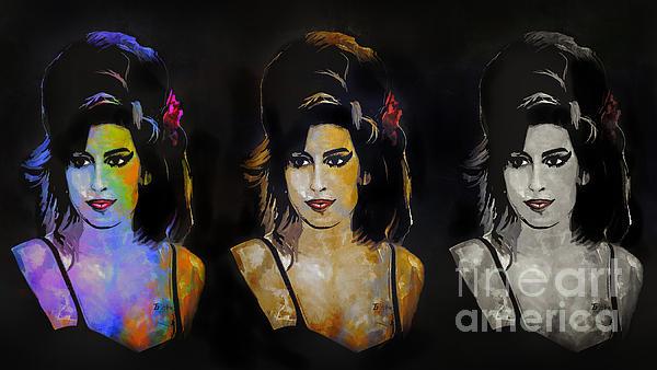 Amy Jade Winehouse Print by Andrzej Szczerski