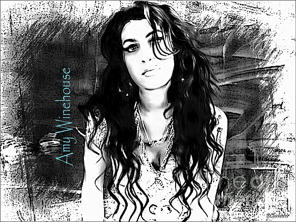 Amy Winehouse Print by Barbara Chichester