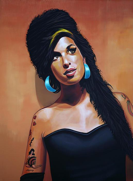 Amy Winehouse Print by Paul  Meijering