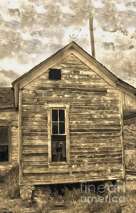 An Abandoned Old Shack Print by Gregory Dyer