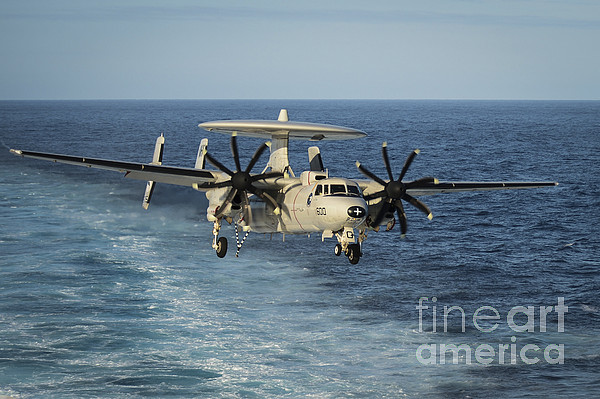 An E-2c Hawkeye Prepares To Land Print by Stocktrek Images