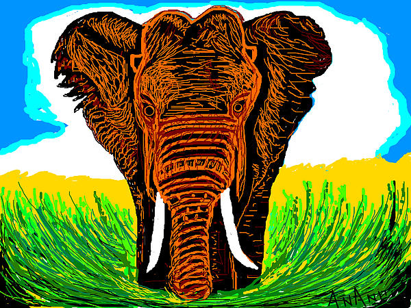 An Elephant-3 Print by Anand Swaroop Manchiraju
