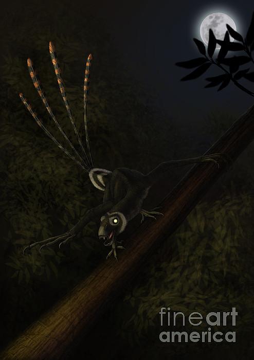 An Epidexipteryx Reacts Aggressively Print by Alvaro Rozalen