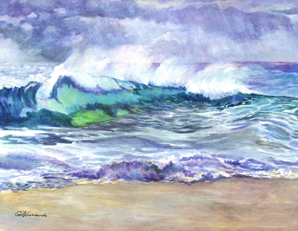 An Ode To The Sea Print by Carol Wisniewski