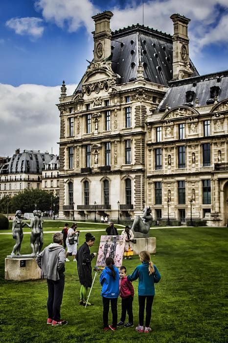 An Oil Painter In A Park In Paris Print by Sven Brogren