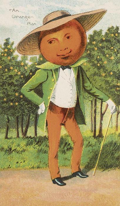 An Orange Man Print by Aged Pixel