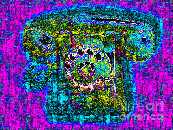 Analog A-phone - 2013-0121 - V3 Print by Wingsdomain Art and Photography