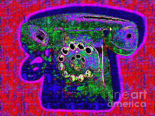 Analog A-phone - 2013-0121 - V4 Print by Wingsdomain Art and Photography