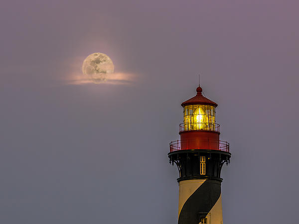 Rob Sellers - Anastasia Lighthouse by Moonlight