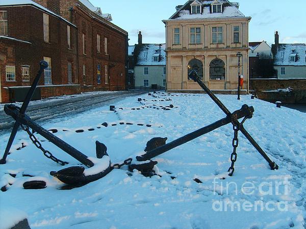 Anchored In Snow Print by Derek Knight