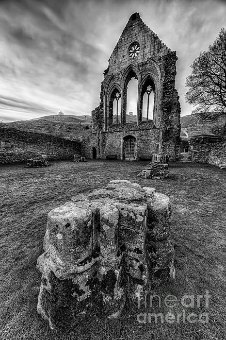 Ancient Abbey Print by Adrian Evans