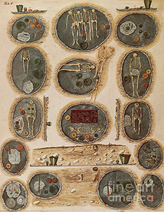 Ancient Celtic Cemetery Hallstatt Print by Science Source