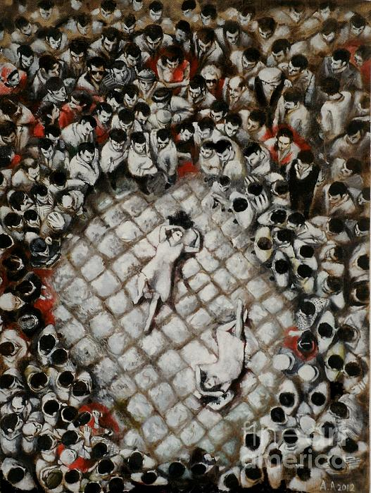 Ancient Dancers Of The Tarantula Dance Print by Alessandra Andrisani