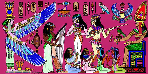 Ancient Egypt Splendor Print by Hartmut Jager
