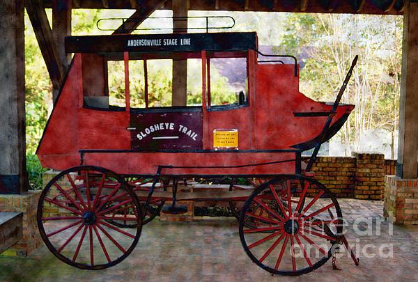 Andersonville Stage Line Slosheye Trail Print by Kim Pate