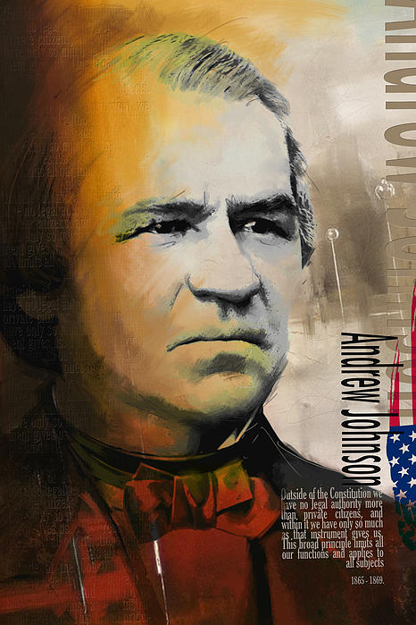 Andrew Johnson Print by Corporate Art Task Force