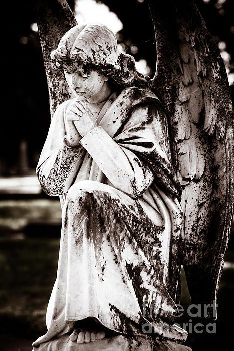 Angel In Prayer Print by Sonja Quintero