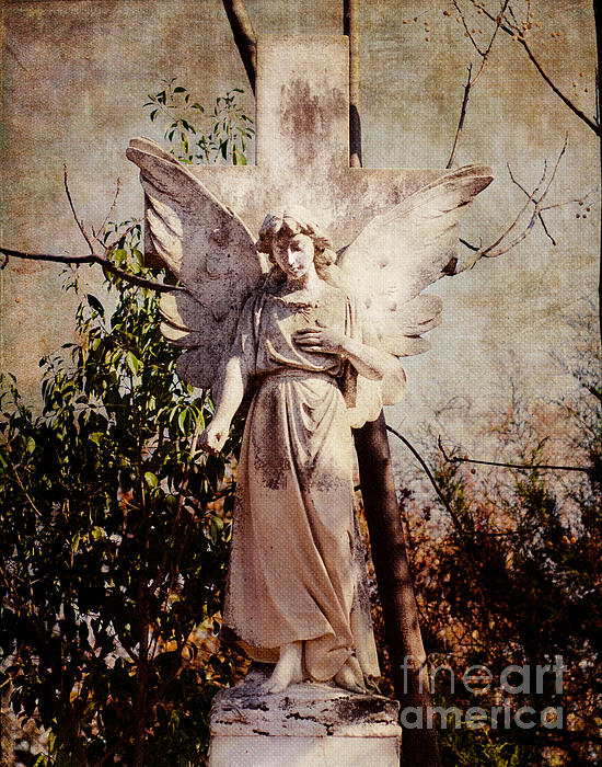 Angel Of Old Print by Sonja Quintero